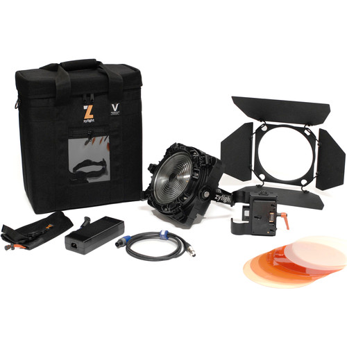 Zylight F8-200 Daylight LED Fresnel Single Head ENG Kit with Gold Mount Battery Plate