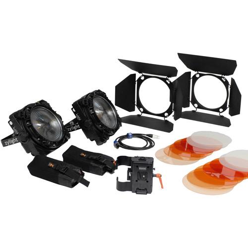 Zylight F8-100/200 Daylight LED Fresnel Combo ENG Kit with V-Mount Battery Plates (No Case)