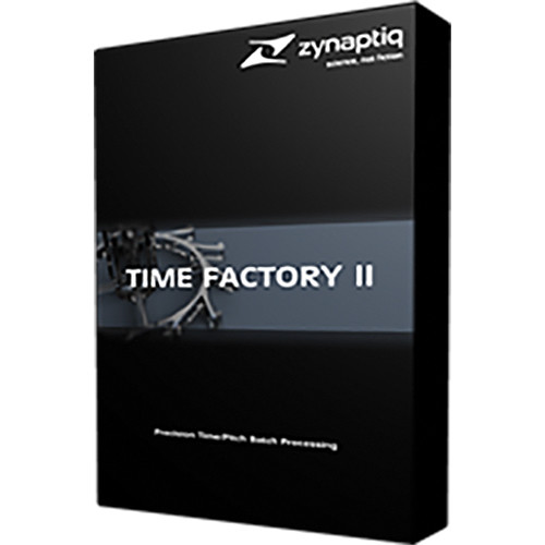 Zynaptiq TIME FACTORY II - Time/Pitch Batch Processing Software (Download)