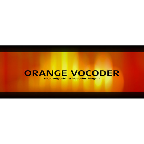 Zynaptiq ORANGE VOCODER AU - Real-Time Vocoder Effects Plug-In (Educational, Download)