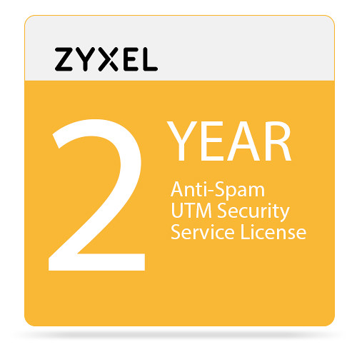 ZyXEL 2-Year Anti-Spam UTM Security Service License for USG20-VPN/USG20W-VPN Firewall