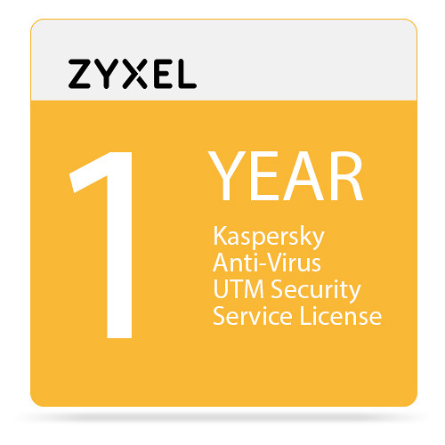 ZyXEL 1-Year Kaspersky Anti-Virus UTM Security Service License for USG100-Plus Unified Security Gateway