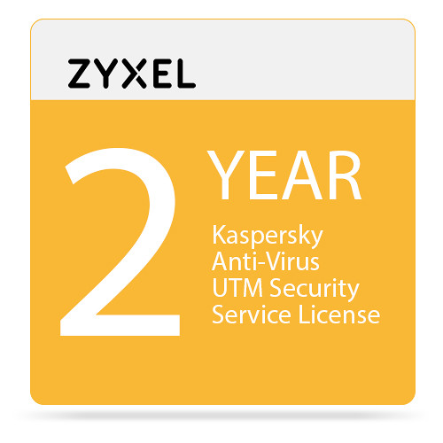 ZyXEL 2-Year Kaspersky Anti-Virus UTM Security Service License for USG60/60W-NB Unified Security Gateway