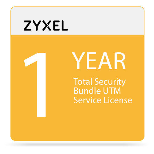 ZyXEL 1-Year Total Security Bundle UTM Service License for USG60/60W-NB Unified Security Gateway