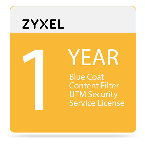 ZyXEL 1-Year Blue Coat Content Filter UTM Security Service License for USG100-Plus Unified Security Gateway