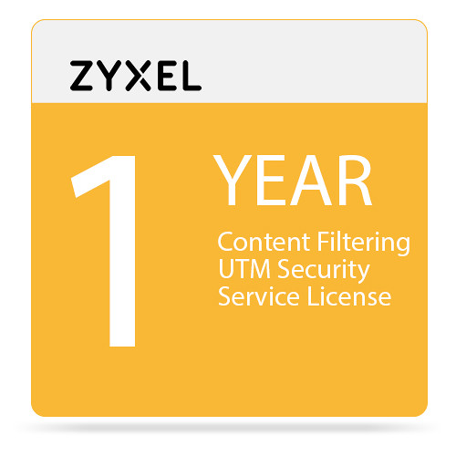ZyXEL 1-Year Content Filtering UTM Security Service License for USG20/W-VPN Unified Security Gateway