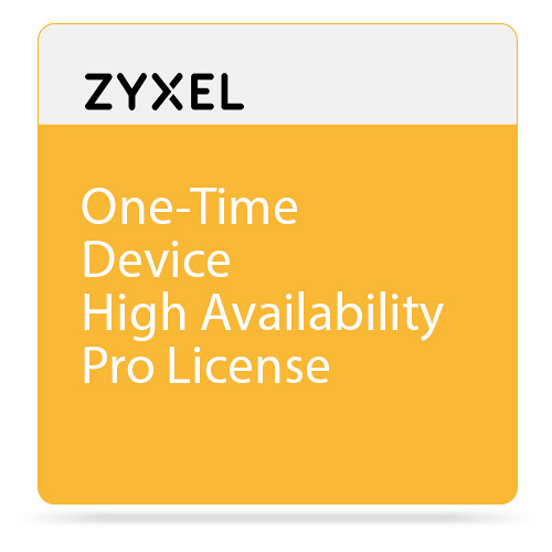 ZyXEL One-Time Device High Availability Pro License for ZyWALL 1100 Firewall & USG 310/1100/1900 Unified Security Gateway