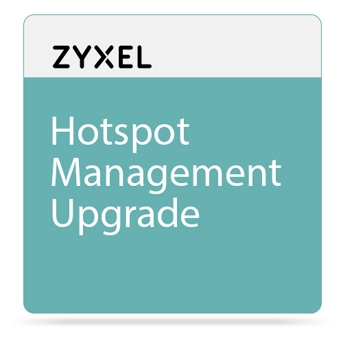 ZyXEL Hotspot Management Upgrade for ZyWALL110 Firewall & USG110/210 Unified Security Gateway