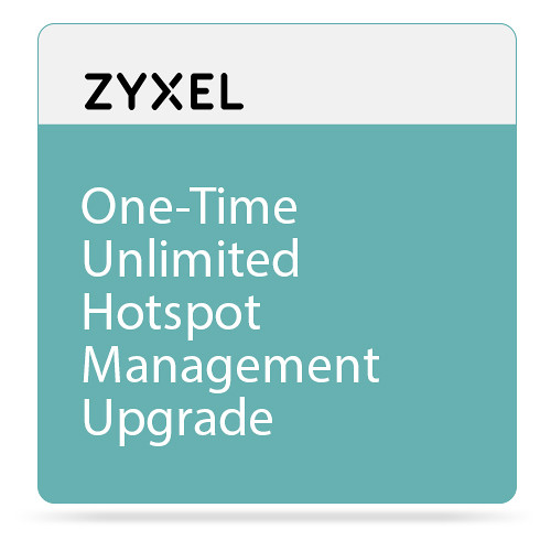 ZyXEL One-Time Unlimited Hotspot Management Upgrade for ZyWALL 310/1100 & USG310/1100/1900 Unified Security Gateway