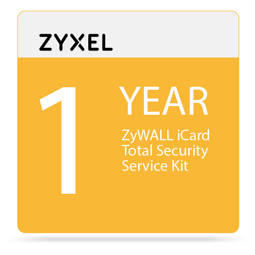 ZyXEL 1-Year ZyWALL iCard Total Security Service Kit for USG300 Unified Security Gateway