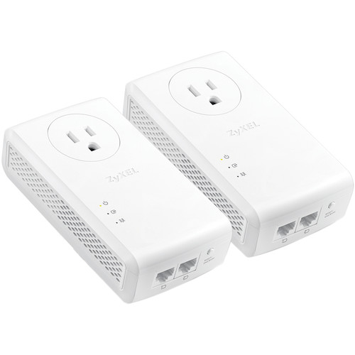 ZyXEL PLA5456KIT HomePlug AV2 Powerline 2-Port Gigabit Ethernet Adapter (2-Pack)