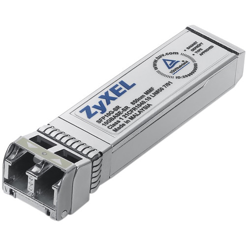 ZyXEL SFP+ 10G 850nm SR MMF Optical Transceiver (LC Connector, Up to 984')