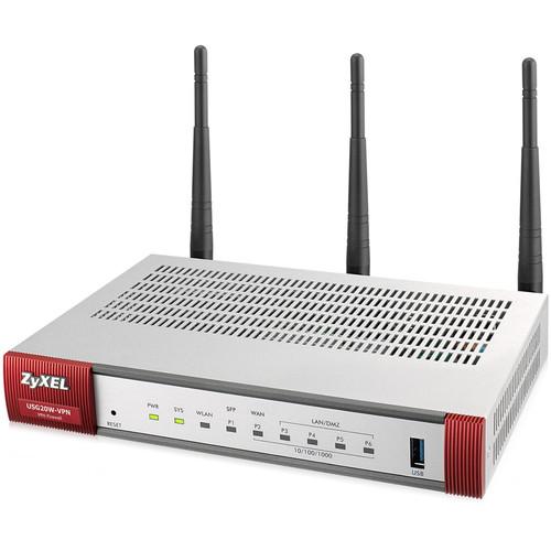 ZyXEL ZyWALL USG20W-VPN Firewall with 3 Detachable Antenna