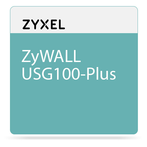 ZyXEL ZyWALL USG100-Plus 600Mbps Unified Security Gateway with 50 VPN Tunnels & 6Gb Ports