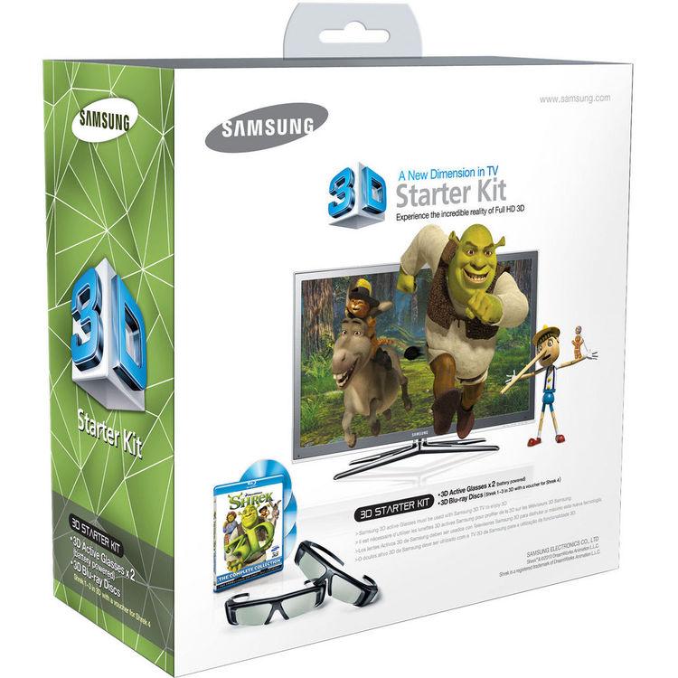 Samsung 3D Starter Kit w/ 3D Glasses and 3D Shrek Videos
