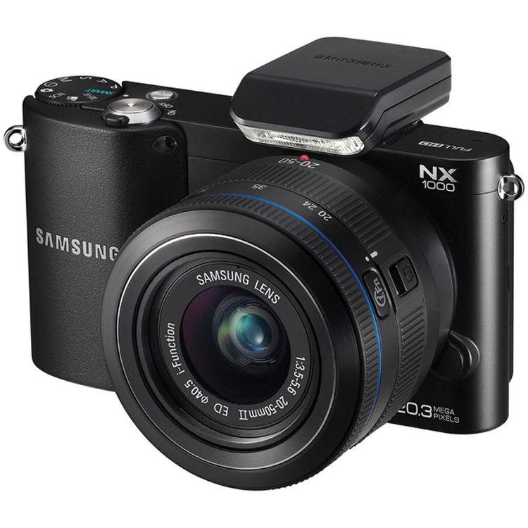 Samsung NX1000 Mirrorless Wi-Fi Digital Camera with 20-50mm Lens (Black)