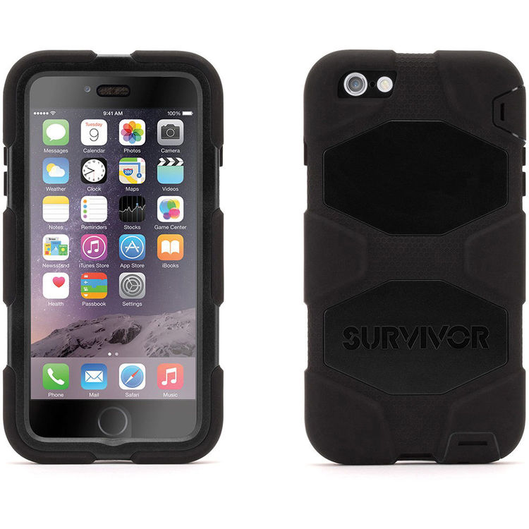 Griffin Technology Survivor All-Terrain Case for iPhone 6 Plus/6s Plus  (Black/Black)