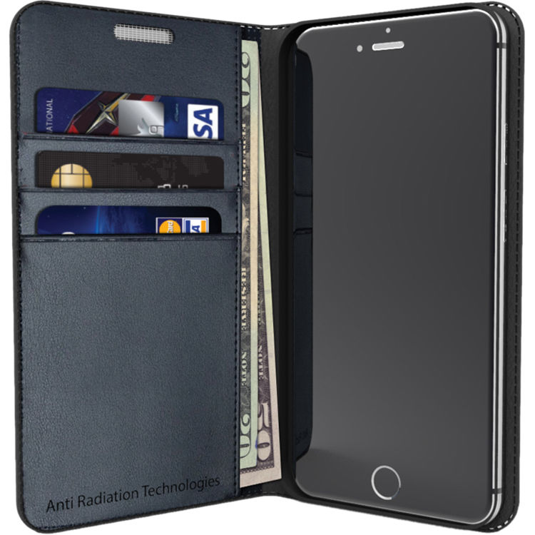 online store a3123 c4e51 VEST Anti-Radiation Wallet Case for iPhone 6/6s (Black)