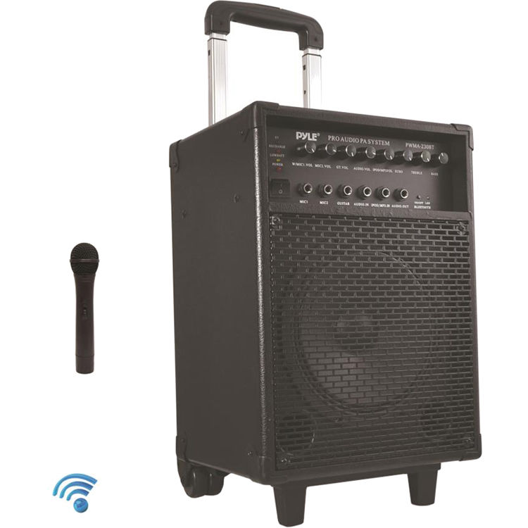 c2b042b4661530 Pyle Pro 400W Wireless Rechargeable Portable Bluetooth PWMA230BT