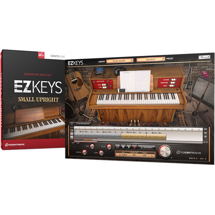 Toontrack EZkeys Small Upright Piano - Virtual Instrument (Download)
