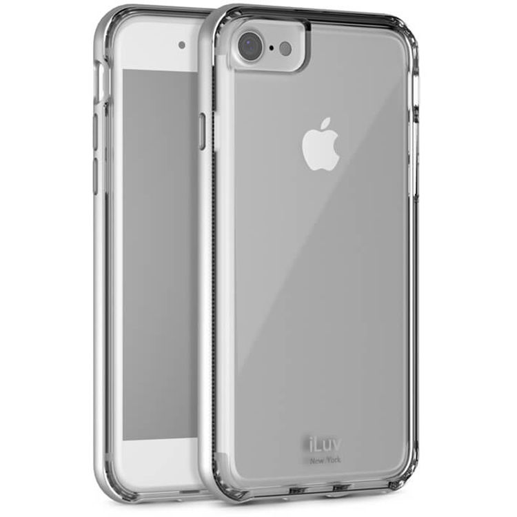 free shipping e22cd 6cfe9 iLuv Metal Forge Case for iPhone 7 Plus/8 Plus (Silver)