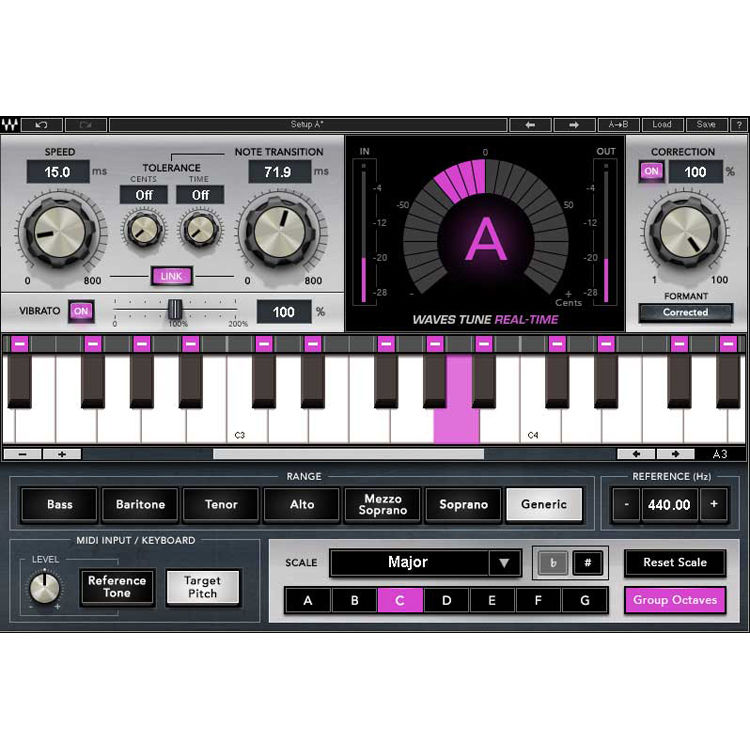 Waves Tune Real-Time - Vocal Tuning Plug-In (Download)