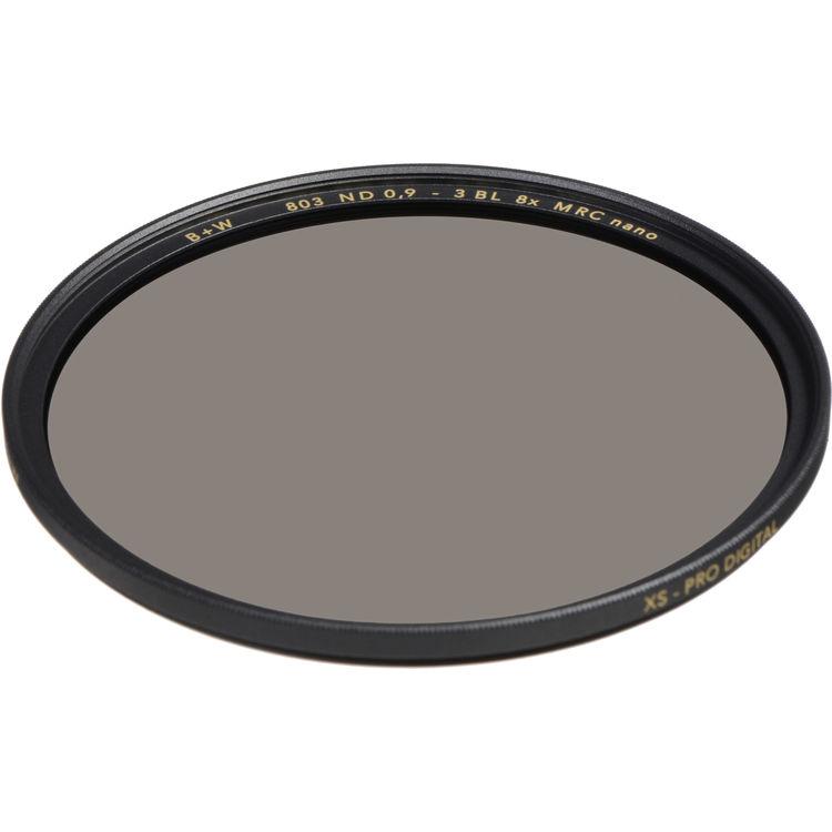 B+W 55mm 0.9-8X Multi-Resistant Coating Nano Camera Lens Filter Gray 66-1089177