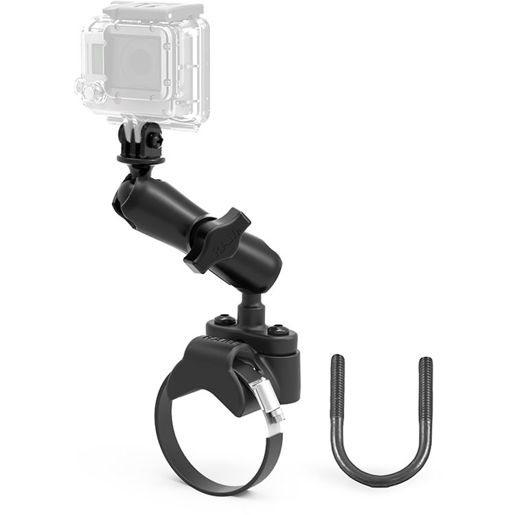 Gopro Roll Bar Mount >> Ram Mounts Strap Clamp Roll Bar Mount With 1 Ball Gopro Hero Adapter