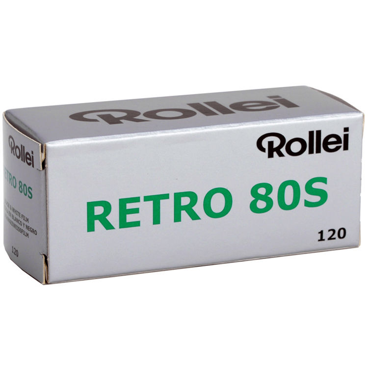 Rollei Retro 80S Black and White Negative Film (120 Roll Film, 5 Pack)