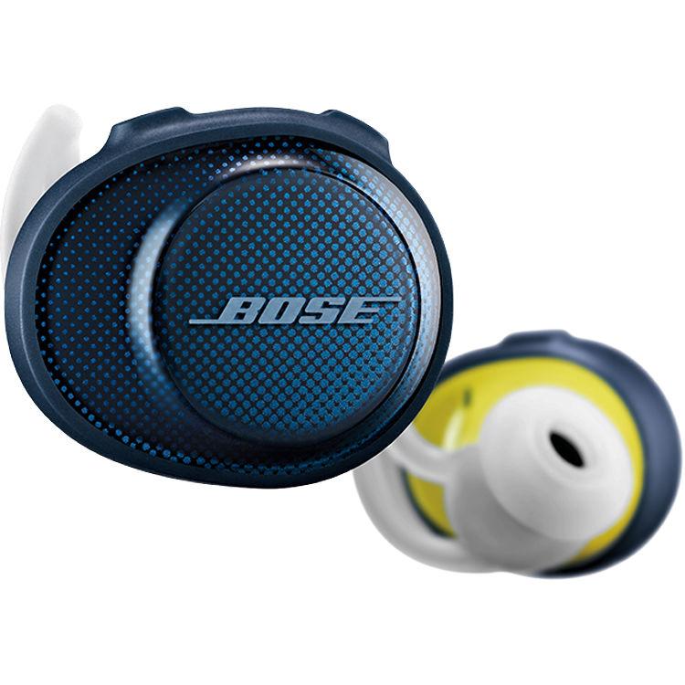 newest 1a8a9 84810 Bose SoundSport Free Wireless In-Ear Headphones (Navy/Citron)