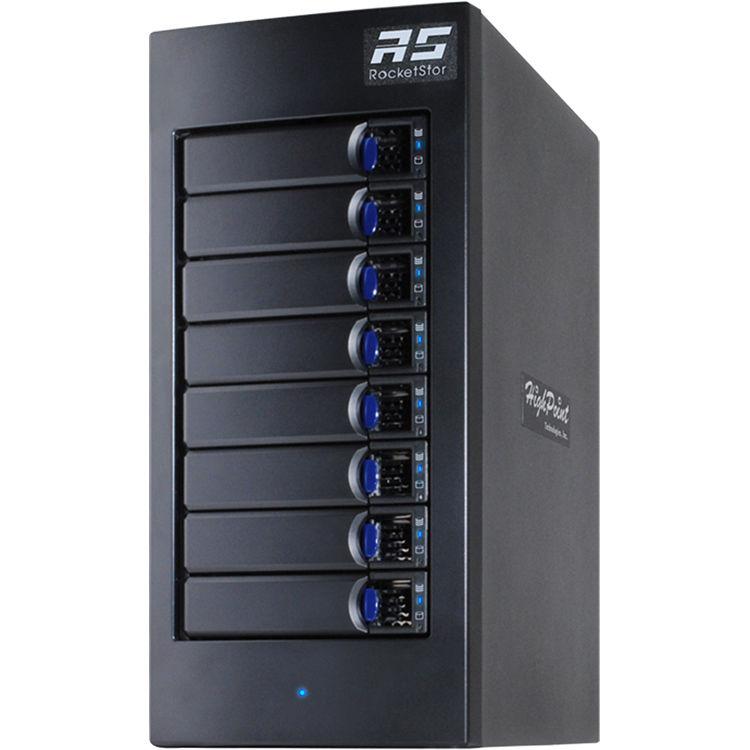 HighPoint rDrive 6628 Series 48TB 8-Bay Thunderbolt 3 Hardware RAID Array  for Mac (8 x 6TB)