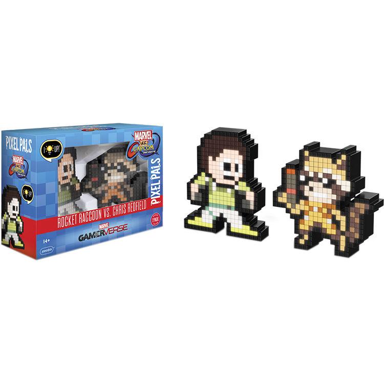 Performance Designed Products Pixel Pals Rocket Raccoon Vs Chris Redfield Marvel Vs Capcom