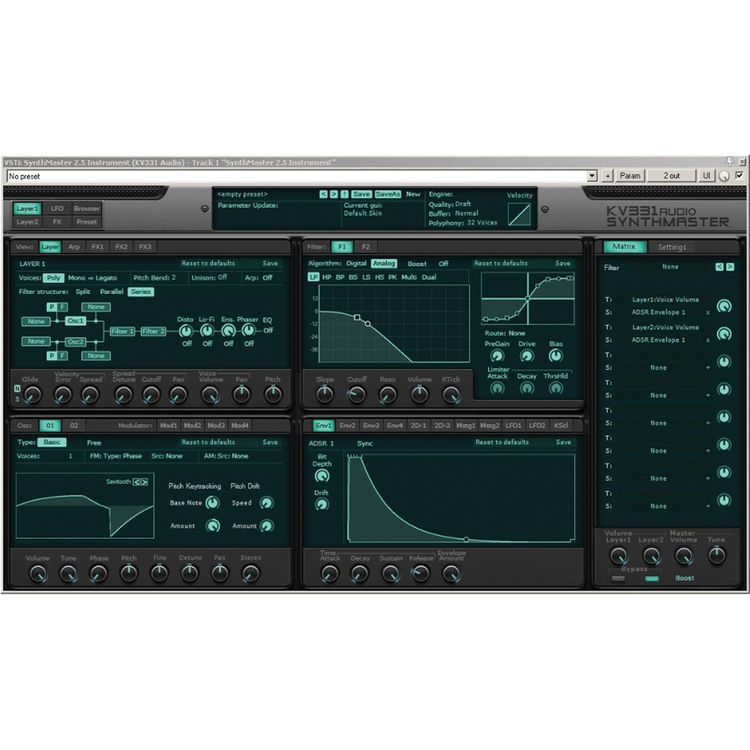 KV331 Audio SynthMaster 2 9 - Semi-Modular Software Synthesizer Plug-In  (Download)