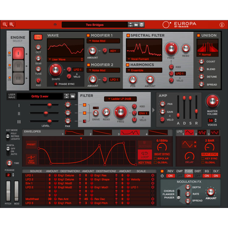 Propellerhead Software Europa by Reason - Spectral Wavetable Synthesizer  (Download)