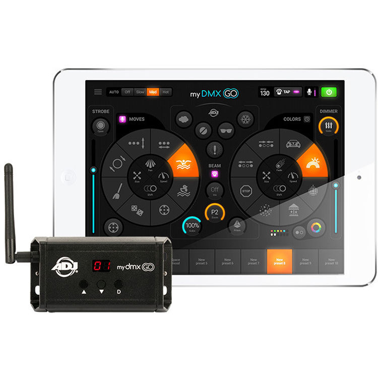 American Dj Mydmx Go Dmx Lighting Control System With Wi Fi Usb Interface Ipad Android