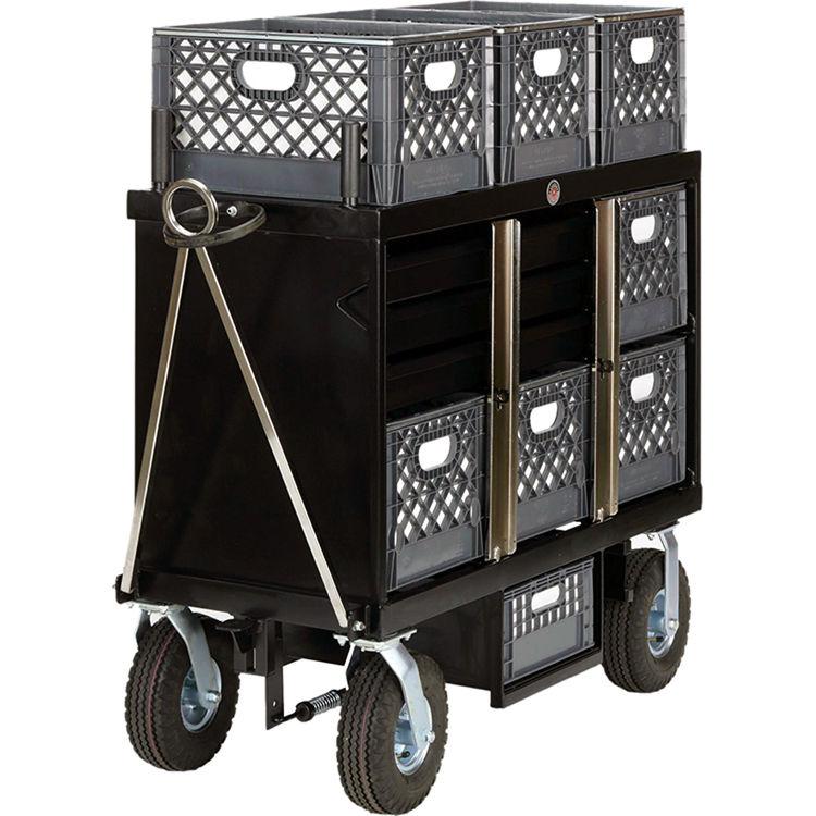 Backstage Equipment 4-Crate Horizontal Set Box Cart