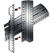 Middle Atlantic PROWMRK-ZRA45 - 45 Space Cage-Nut Z-Rail Rack Rails for WMRK Series Racks (Pair)