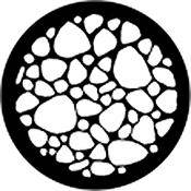 Rosco Standard Steel Gobo #78449B Stone Bed (B = Size 86mm)