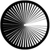 Rosco Standard Steel Gobo #78474B Contrast (B = Size 86mm)