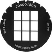 Rosco Standard Steel Gobo #78487B 3x3 Fat (B = Size 86mm)