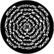 Rosco Standard Steel Gobo #78473B Hypnotic Fan (B = Size 86mm)