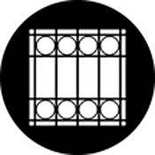Rosco Standard Steel Gobo #78498B Window Grate (B = Size 86mm)