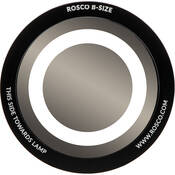 "Rosco Standard Black and White Glass Spectrum Gobo #81115 Circle Outline (86mm = 3.4"")"