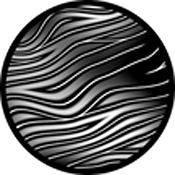 """Rosco Standard Black and White Glass Spectrum Gobo #81118 Swagger (86mm = 3.4"""")"""