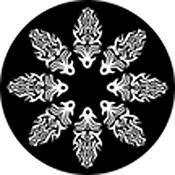 "Rosco Standard Black and White Glass Spectrum Gobo #81124 Fire Circle (86mm = 3.4"")"