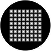 "Rosco Standard Black and White Glass Spectrum Gobo #81137 Pyramid Highlights (86mm = 3.4"")"