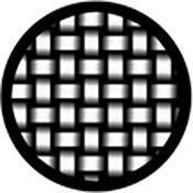 """Rosco Standard Black and White Glass Spectrum Gobo #81139 Woven Stainless (86mm = 3.4"""")"""