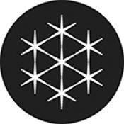 """Rosco Standard Black and White Glass Spectrum Gobo #81152 Blinders (86mm = 3.4"""")"""