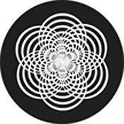"""Rosco Standard Black and White Glass Spectrum Gobo #81146 Descent (86mm = 3.4"""")"""