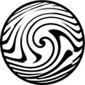 """Rosco Standard Black and White Glass Spectrum Gobo #81160 Distortion (86mm = 3.4"""")"""
